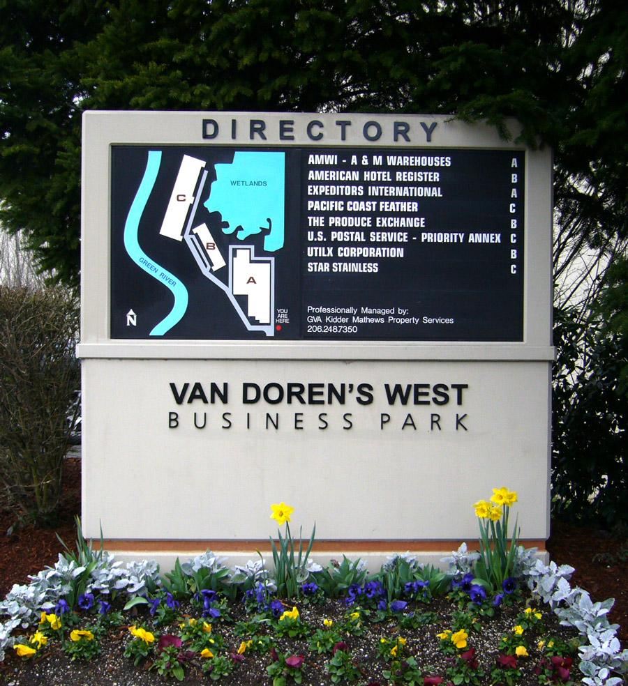 Van Doren's West features a modern, highly visible and simplified design cased in concrete with interchangeable middle panel.