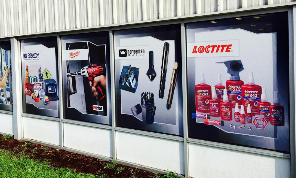 Let your customers know exactly what you're selling with permanent or temporary custom window graphics.