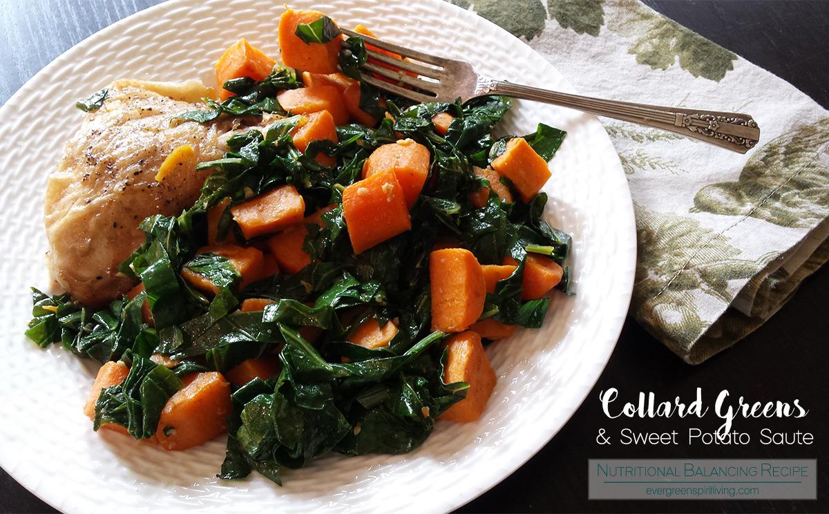 Brassicas Cookbook Review + Collard Greens & Sweet Potato Saute