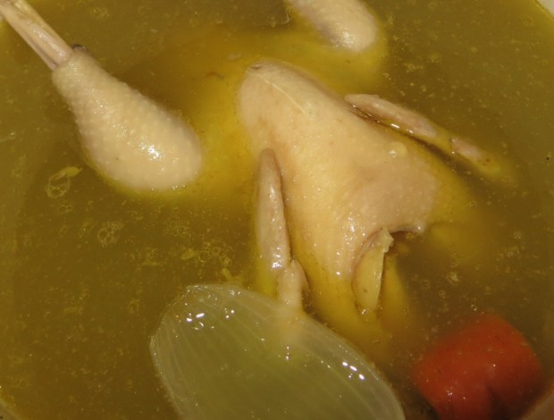 chicken stock - in process