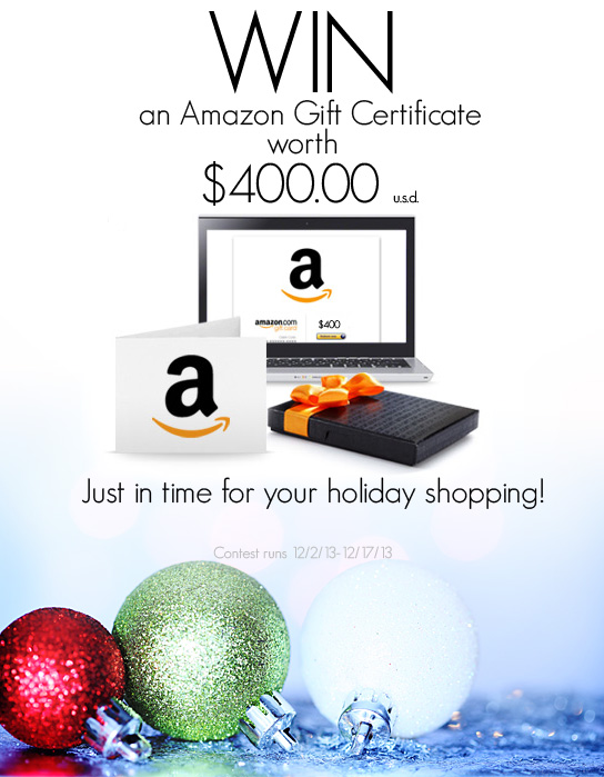 $400 Amazon Gift Card Giveaway
