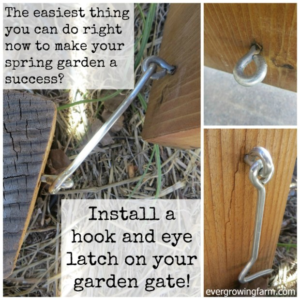 Install a Hook Latch on Your Garden Gate