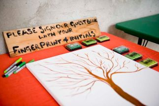 Guestbook Tree set up