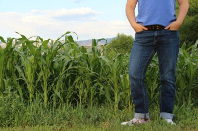 in the garden - knee high by the fourth of July