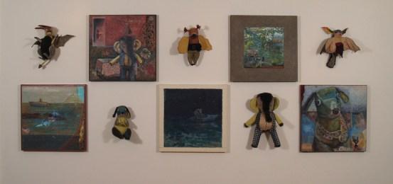 Linda Mitchell, Serio in Verse, mixed media installation, 2006
