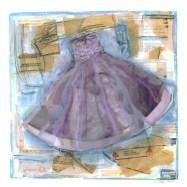"Liz Parry-Faist, ""A Dress Fit for a Fairy Tale"", mixed media, 2016"