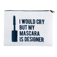 Mascara is Designer - Cosmetic Bag