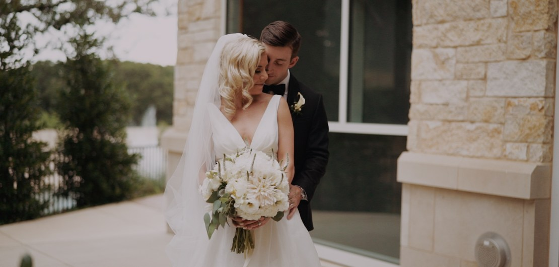 bride and groom portraits dallas fort worth wedding videographer
