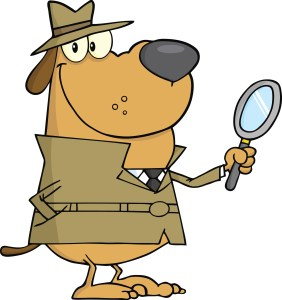 clipart dog detective
