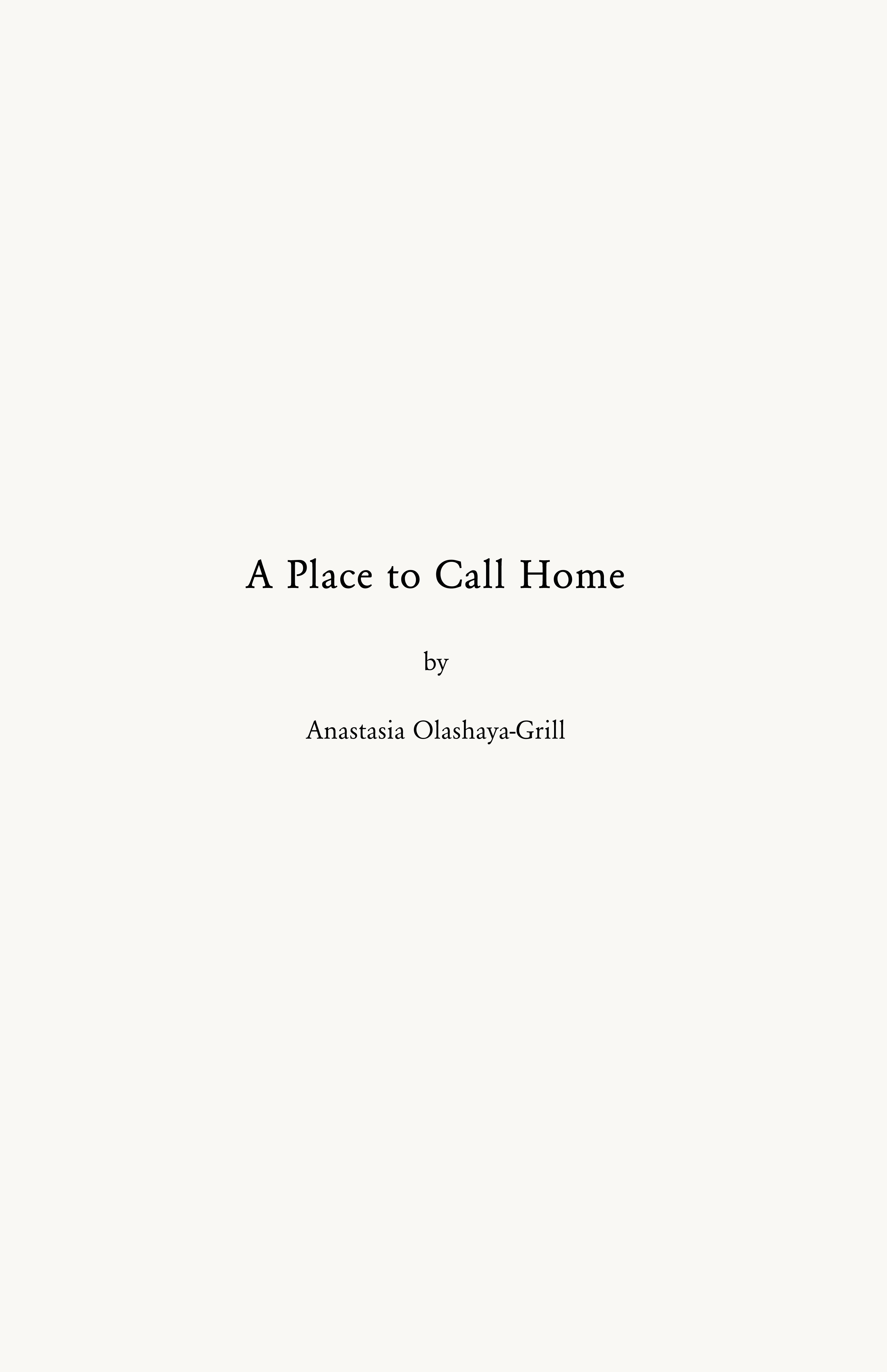 A Place to Call Home 0