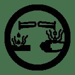 whmis symbols - corrosive materials - class e