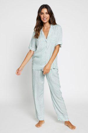 Sage Floral Pyjama Set 1