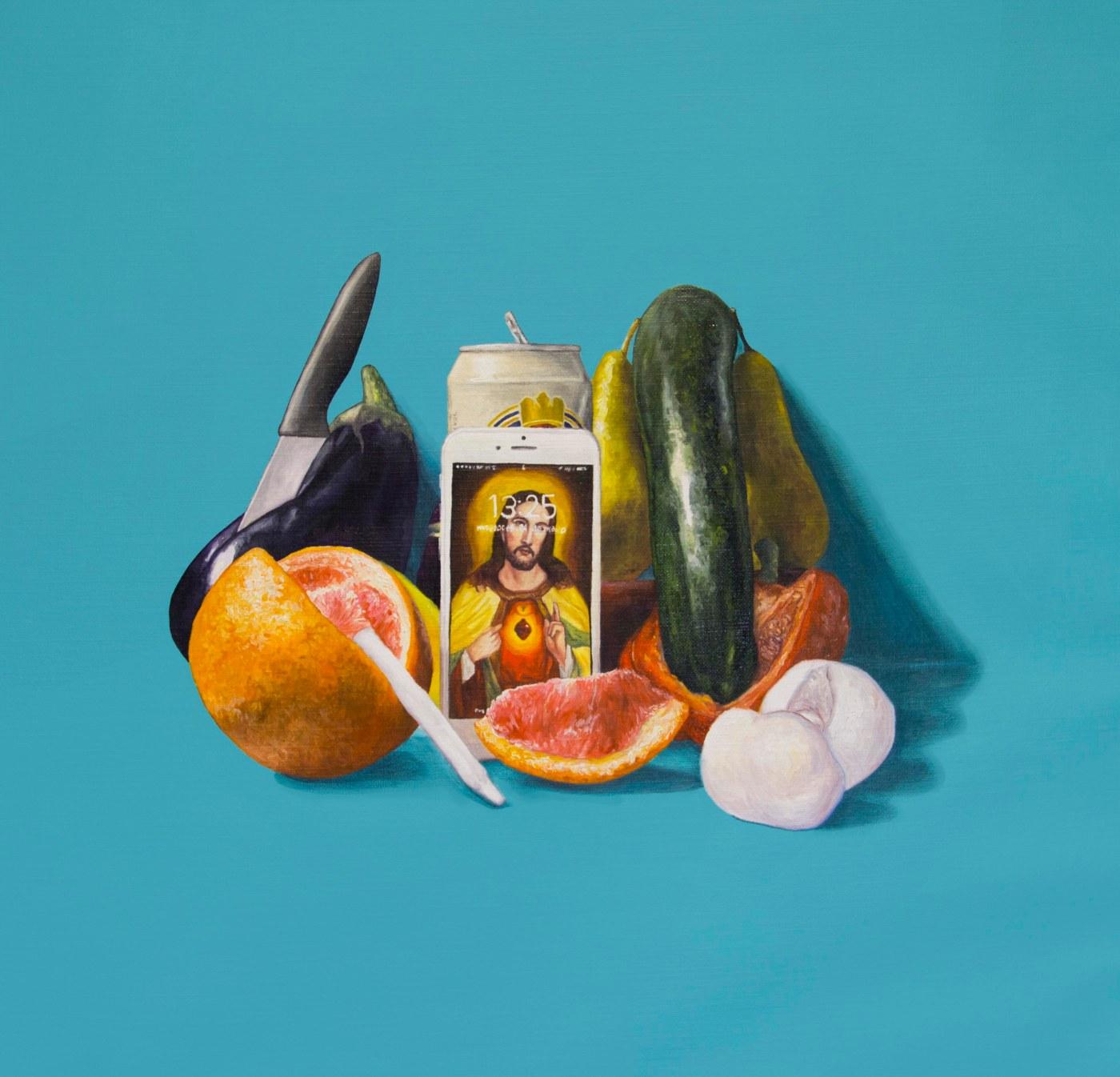 Naturaleza muerta contemporanea III oil painting - acrylic painting