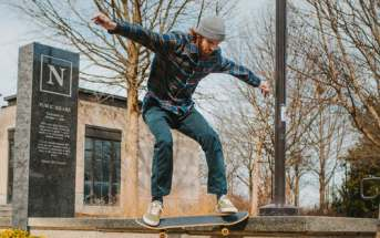 noseslide, skate, trick, frontside, backside
