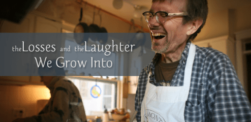 Image: Click here to hear Kevin Kling's 'The laughter we grow into' podcast, via onbeing.org