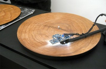 Image: A wooden turntable
