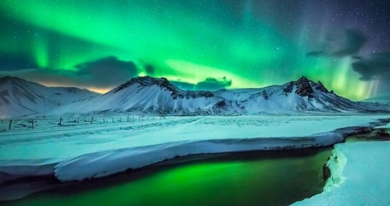 Image: Midnight Sun Over Iceland