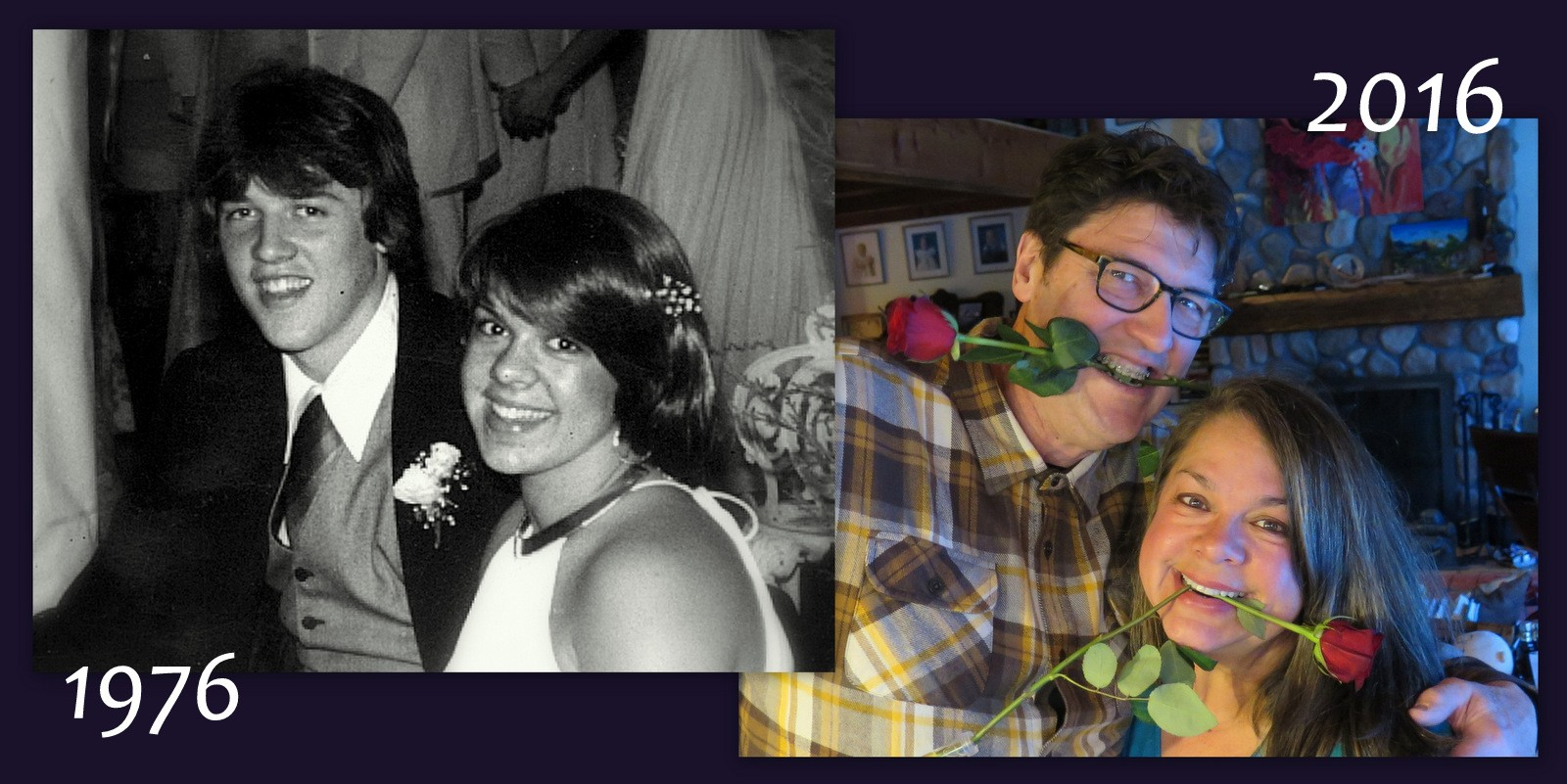 Image: Dr. Lynda and Dr. Chuck in high school and today