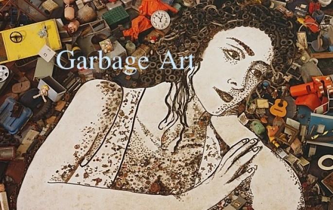Image: Art made from garbafe