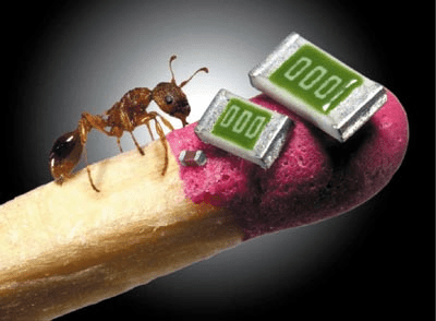 Image: Nano tech and an ant on a match stick