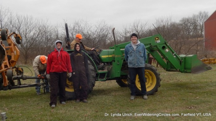 Image: Working by the tractor
