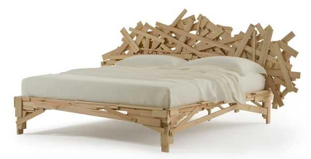 Image: bed frame made of 2 X 4 's