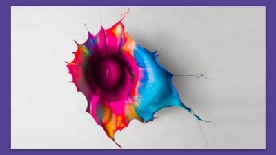 Image: Fabian Oefner's paint drop art