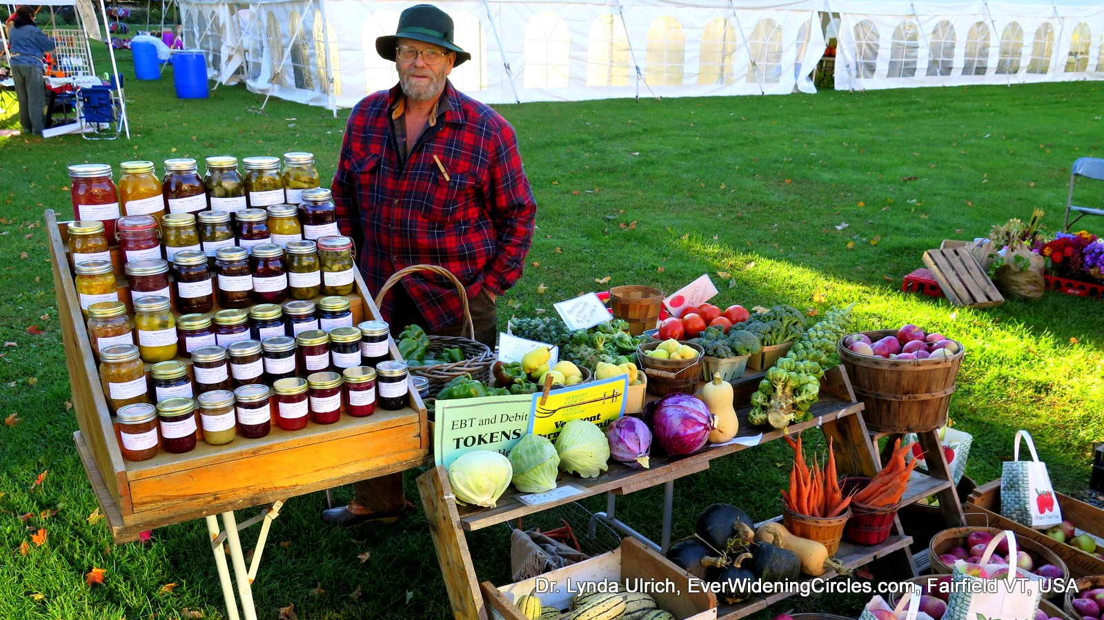 Image: Farmer's Market Vendor with bounty