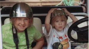 Image: Kids with pots on their heads
