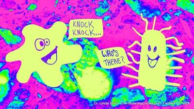 Image: Cartoon Bacteria Communicating