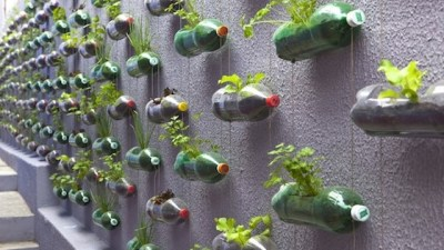 Image: Plastic bottles being upcycled