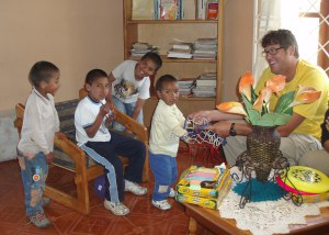 Image: Dr. Chuck with SOS kids