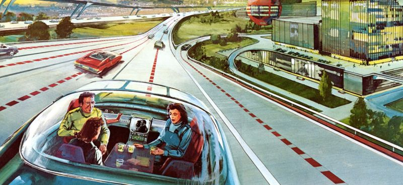 Image:1960s Artists rendering of self-driving cars