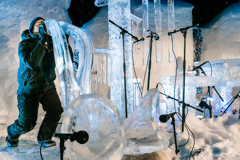 Emile Holba at the Ice Music Festival