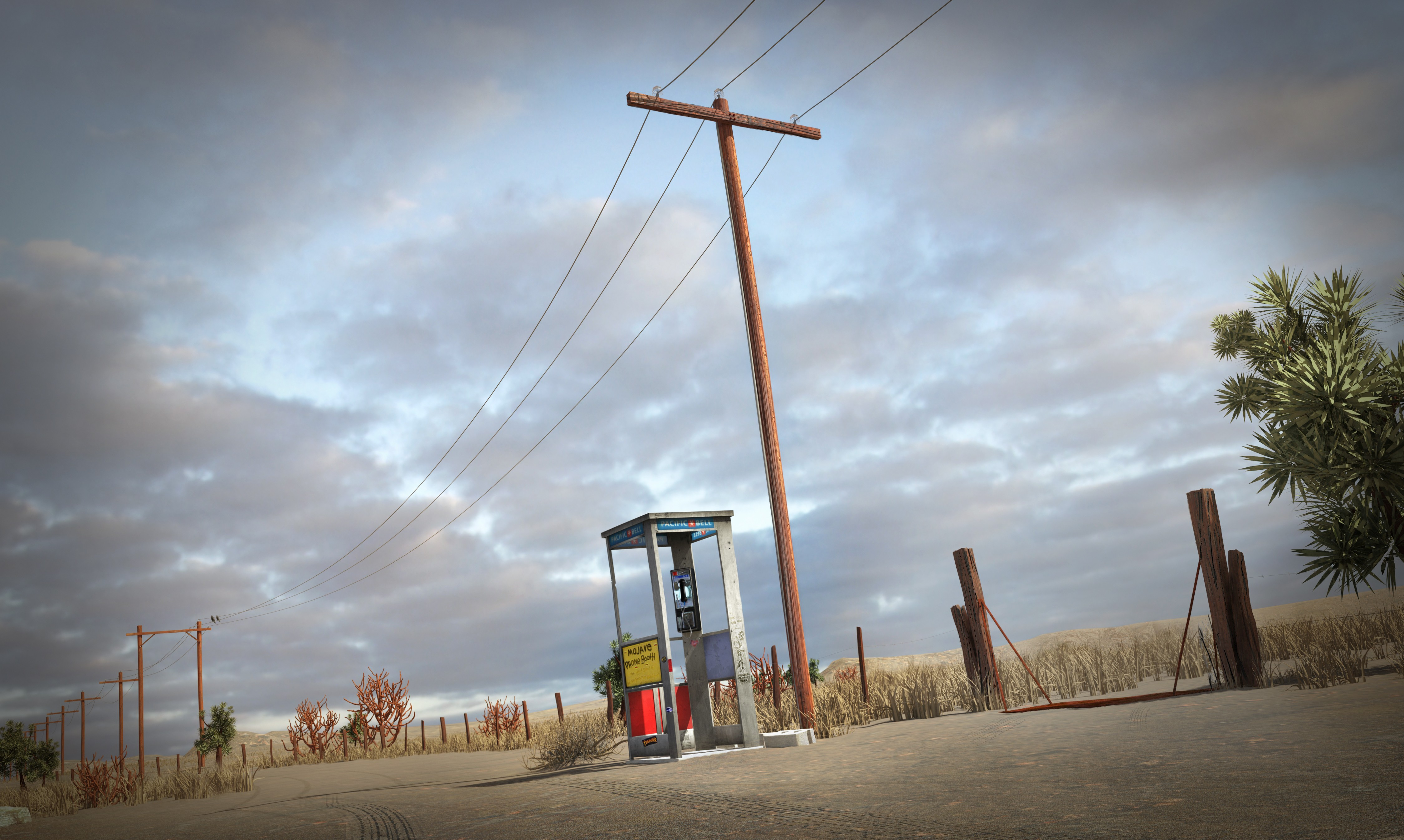 Mojave Phone Booth sitting in the middle of the desert
