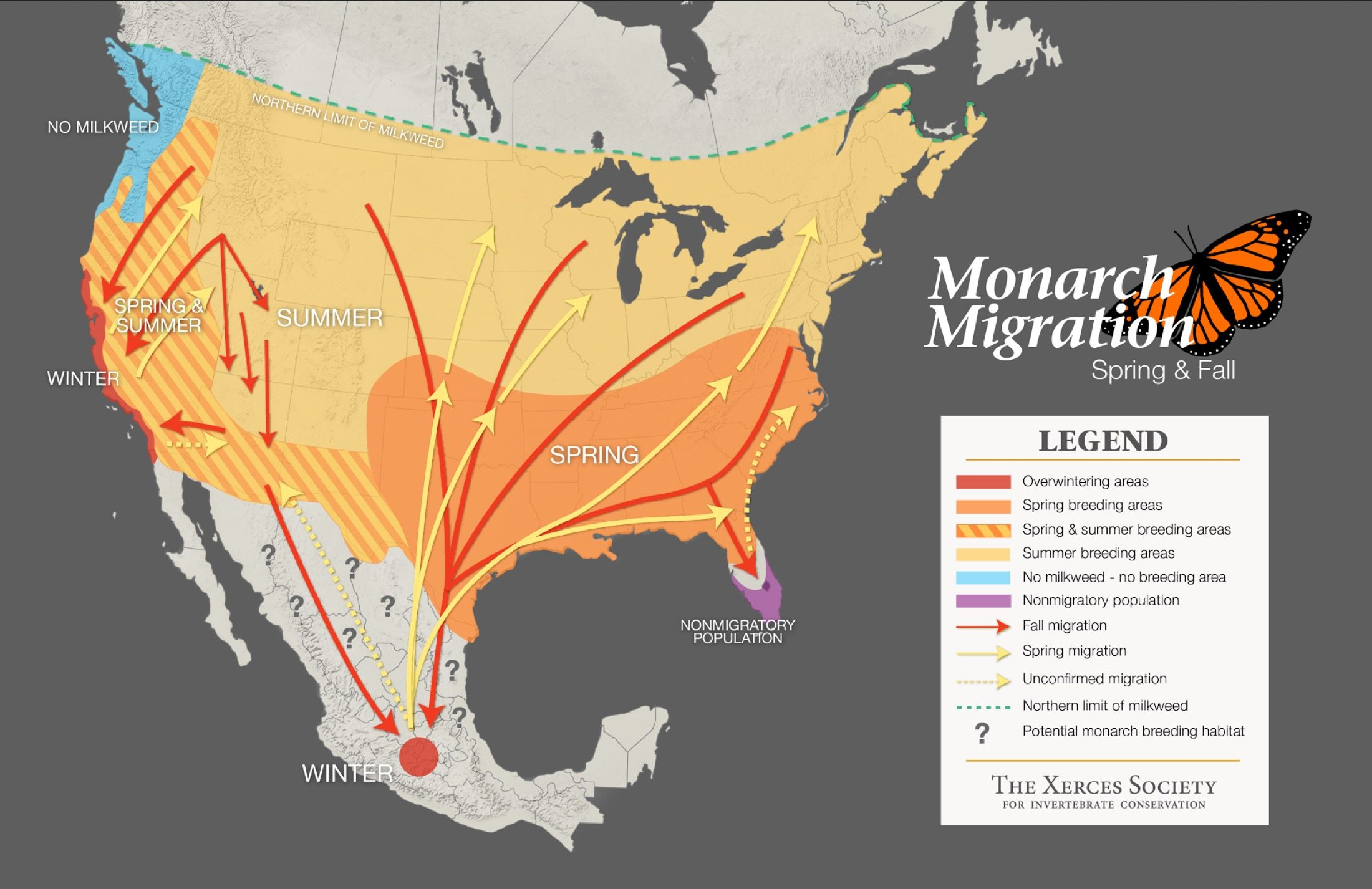 Image: Monarch Butterfly Migration Map