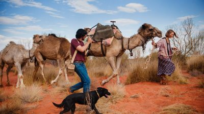 Image: Robyn Davidson with her camels photographed by Rick Smolan