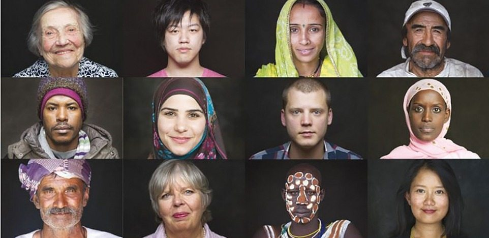Image: Portraits from HUMAN the movie, exploring our human connection