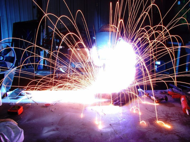 Image: cold welding with long exposure