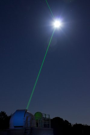 Image: Lunar laser show from a planetarium