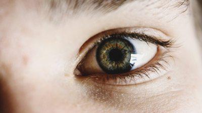 Image: close up of child's eye