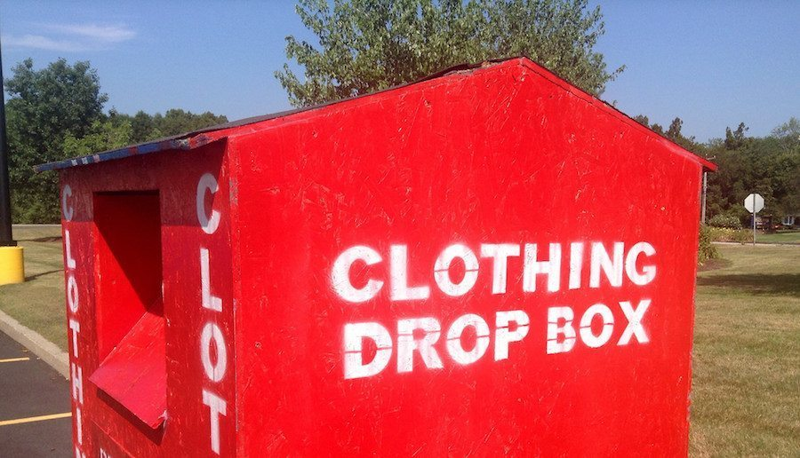 Image: Clothing Drop Box