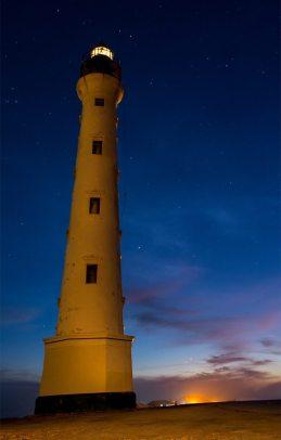 Image: Lighthouse at sunset