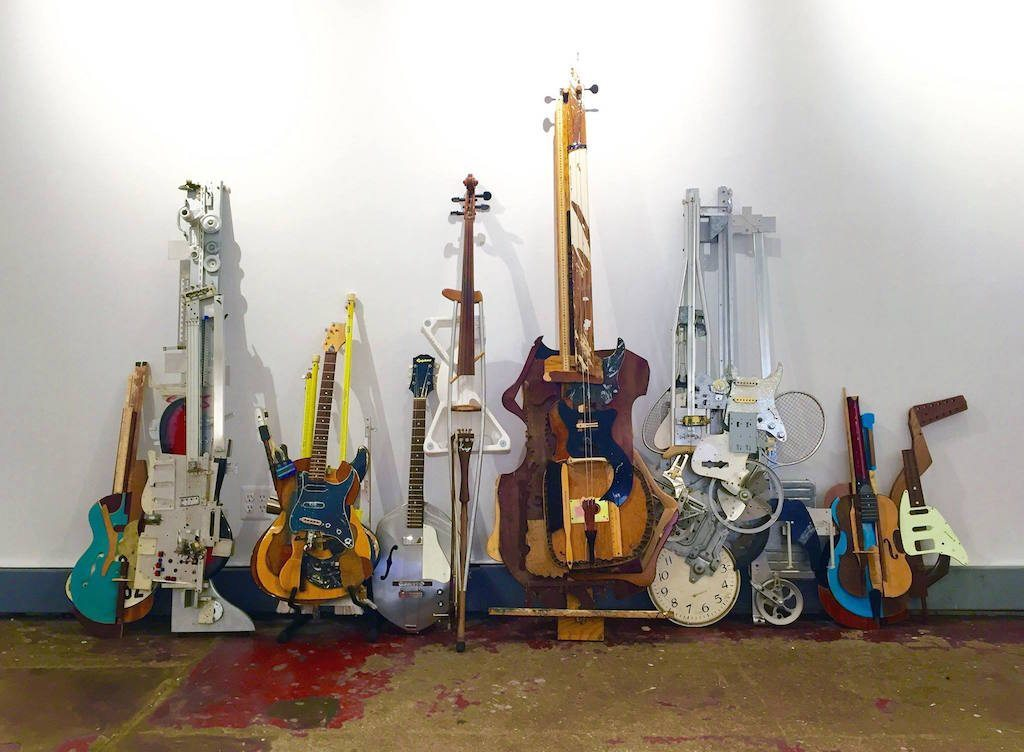Image: Ken Butler's work turning trash into musical instruments