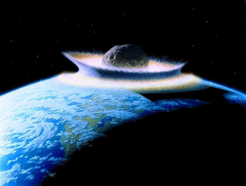 Image: Asteroid hitting earth