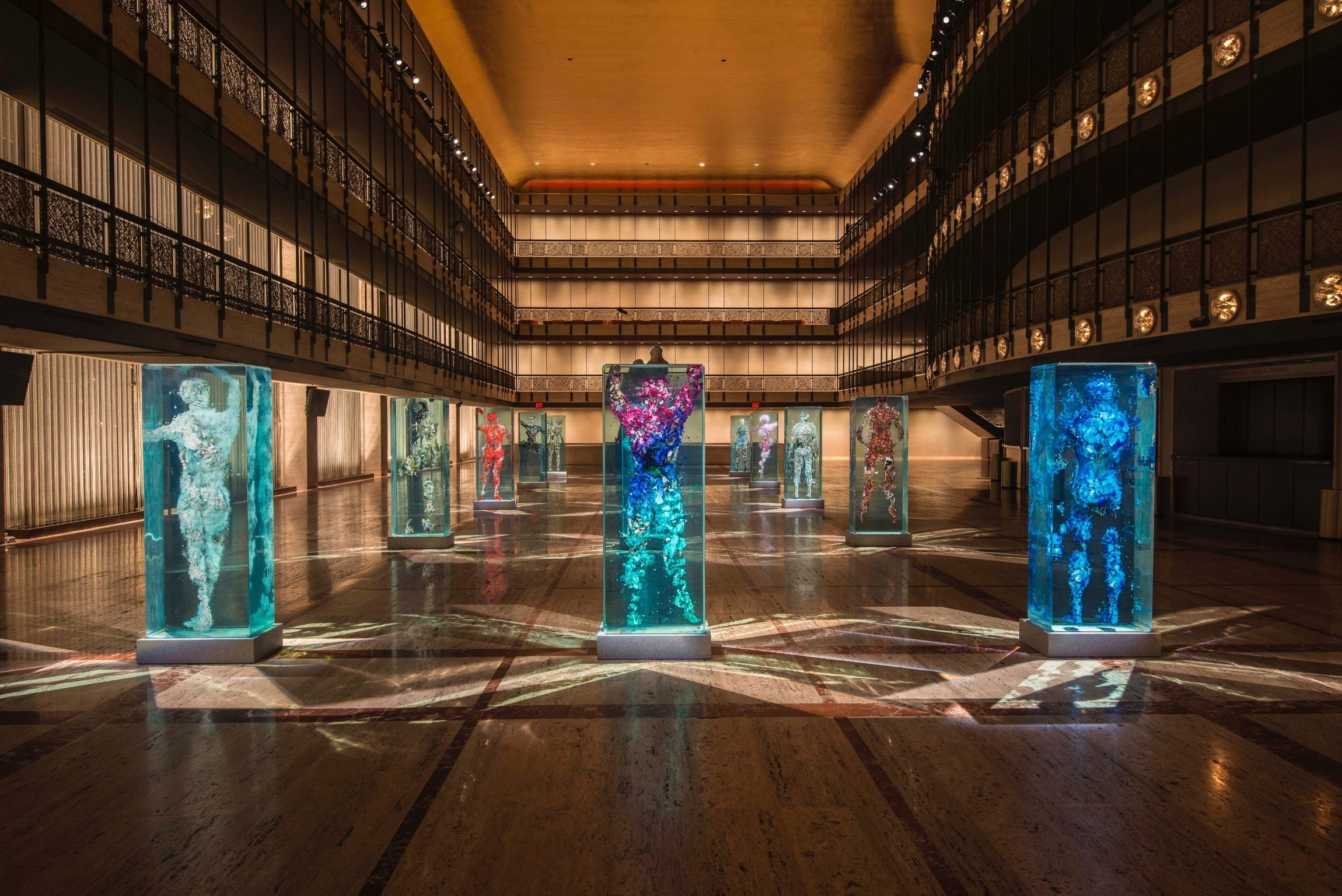 Image: Dustin Yellin's Sculptures in Lincoln Center