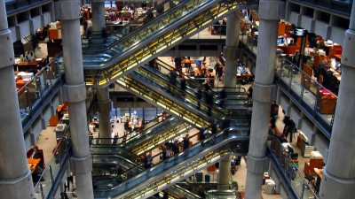 Image: Finding the gain in every loss, the numerous escalators - up and down - in Loyd's of London