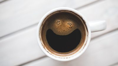 Image: Coffee with foam in the shape of a smile