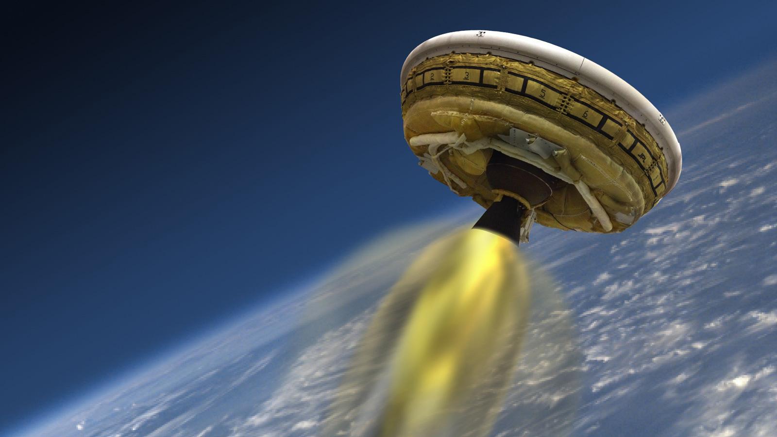 Image: NASA's Flying Saucer Test!