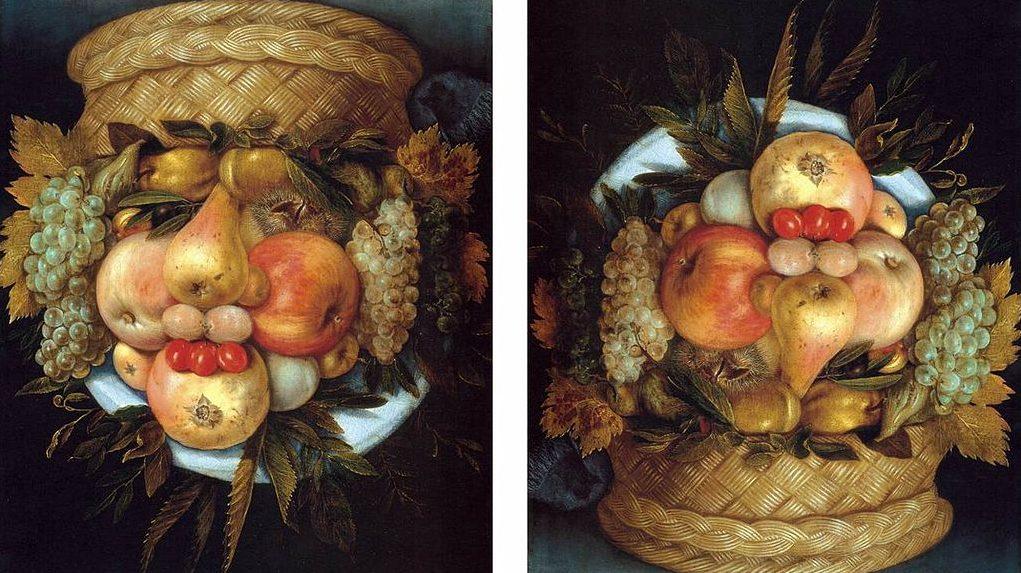Image: Reversible Head with Basket of Fruit by Giuseppe Arcimboldo